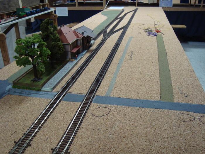 Modellbahnanlage MEC: Bayreuth - Altstsadt hier: im Rohbau